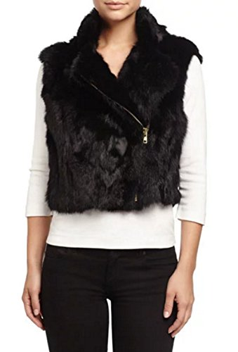 adrienne-landau-textured-rabbit-fur-vest-black
