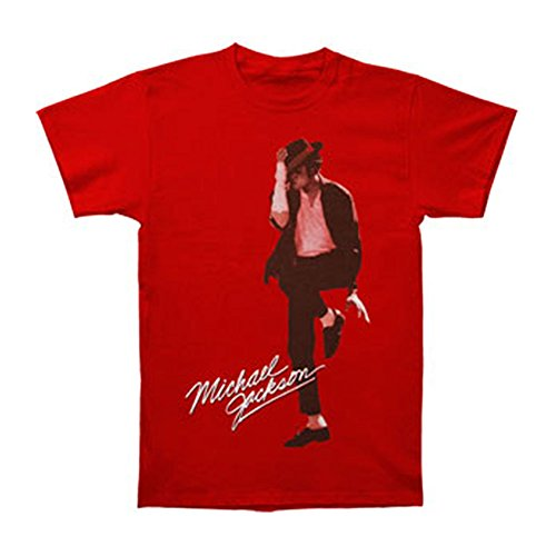 Michael Jackson Men's Fedora T-shirt Red