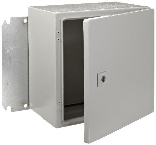 """Rittal 1033500 Light Grey 16 Gauge Steel Ae Single Door Wallmount Enclosure, 11-13/16"""" Width X 11-13/16"""" Height X 8-17/64"""" Depth"""