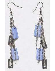 Fashionable Earrings - Metal And Acrylic