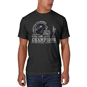 Seattle Seahawks Super Bowl Champs XLVII 47 Brand Helmet Grey Scrum T-Shirt by