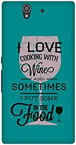 The Racoon Grip Blue Cooking Wine hard plastic printed back case / cover for Sony Xperia Z