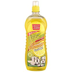 Crazy John Dish Wash Liquid Gel Lemon - 1 Litre