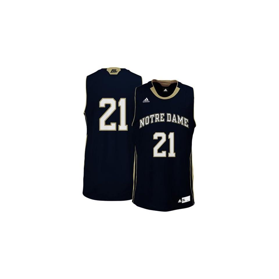 Notre Dame Fighting Irish #21 Basketball Replica Jersey (Navy) S