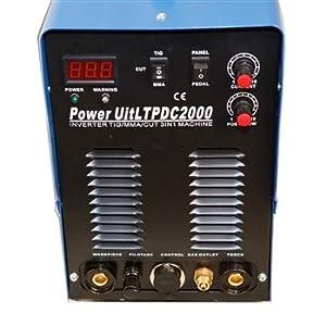 LTPDC2000 Lotos LTPDC2000 Pilot Arc IGBT 50A Plasma Cutter /200A Tig/Stick Welder