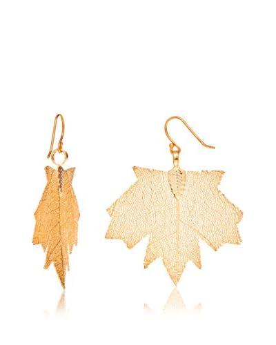 Ana Natural Leaves Orecchini Oro