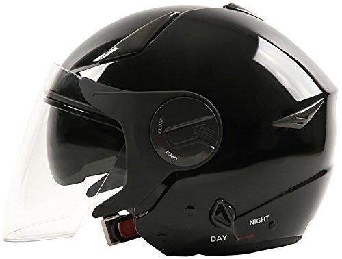 ダブルシールド装備 ジェットヘルメット メタリックブラック