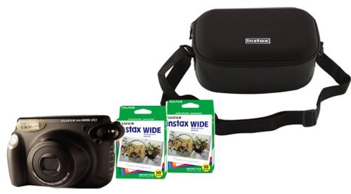Fuji Instax 210 Instant Camera + 210 Case (Black) + 2 Twin Pack Film (40 images)