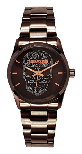 Zadig & Voltaire ZV 029/5um Rock-Unisex Watch-Analogue Quartz-Brown Dial-Steel Bracelet-Brown