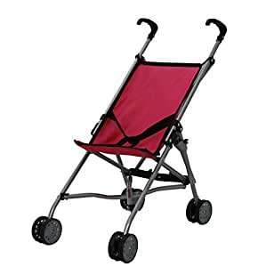 Amazon.com: Mommy & Me Umbrella Doll Stroller Hot pink & black: Toys