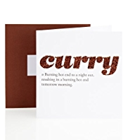 Definition Curry Birthday Card