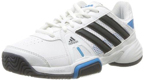 ADIDAS Barricade Team 3 Junior Tennis Shoes White Black Blue US3 5 ...