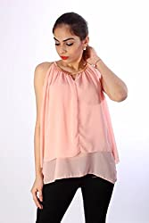 Baby Pink Georgette Chain Top