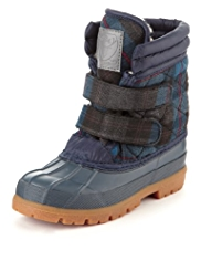 Water Resistant Quilted Panelled Duck Boots