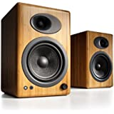 Audioengine A5+ Premium Powered Speaker Pair (Carbonized Solid Bamboo)