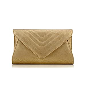 Scarleton Large Evening Envelope Clutch H338018 - Gold