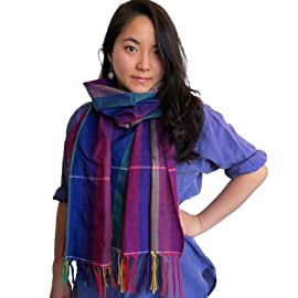 Cambodian Cotton Krama Scarf - Light