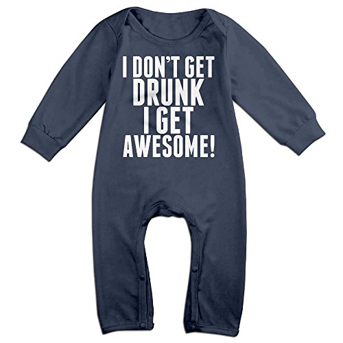 LCYCAD Newborn Babys Boy's & Girl's I Don't Get Drunk I Get Awesome Long Sleeve Baby Climbing Clothes For 6-24 Months Navy Size 12 Months (Pokemon Omega Ruby Poster compare prices)