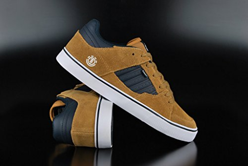 Element GLT2 Mens Leather & Suede Skate Trainers Curry - 42 EU