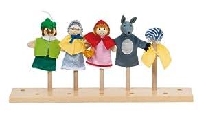 Goki - 51898 - Assortiment de 5 Marionnettes à Doigt - Le Petit Chaperon Rouge