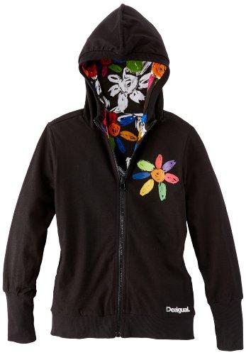 Desigual Mädchen Sweatshirt, 37S3038,  Schwarz (negro 2000), 128 (7/8 Jahre)
