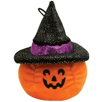 Ty Halloweenie Beanie Scream - Pumpkin - 1