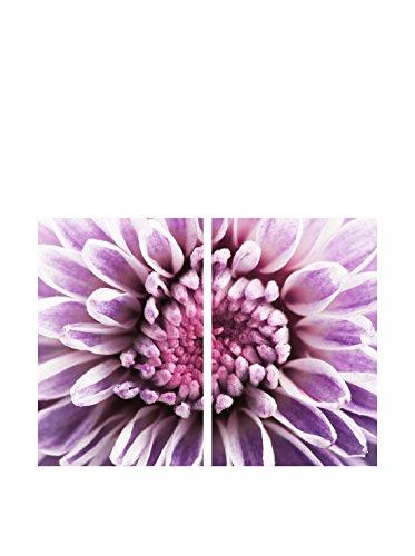 Art Addiction Purple Flower Set of 2, Multi, 36