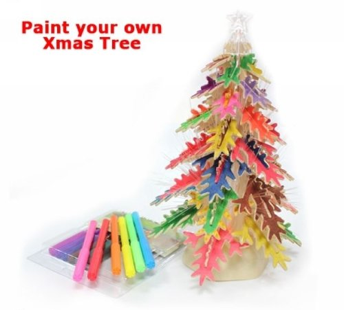 3D Wood Puzzle Wooden Diy Model Merry Christmas Xmas Tree Led Light New For Christmas Gift