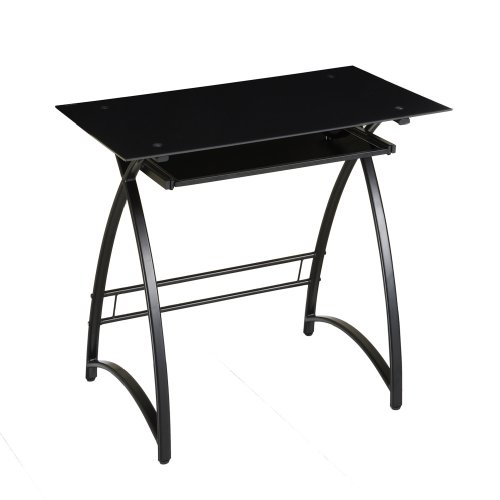 Buy Low Price Comfortable Walker Edison Glass Computer Desk, Black/Black (B002WRGDZK)