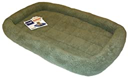 NAP Berber Bolster Pet Bed, Sage, 24-Inch by 36-Inch