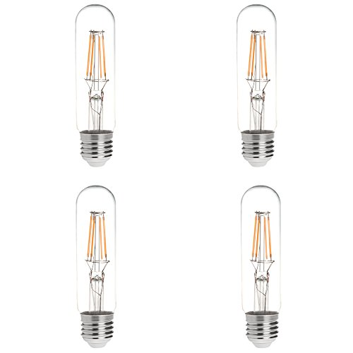 HERO-LED T10 E26/E27 4W Medium Screw Base Tubular Style LED Vintage Antique Filament Bulb, 40 Watt Squirrel Cage Nostalgic Tungsten Filament Replacement Incandescent Bulbs, Vintage Nostalgic Reproduct