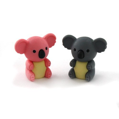 Iwako Japanese Erasers - 2 Colours Koala Bear (2 pieces)