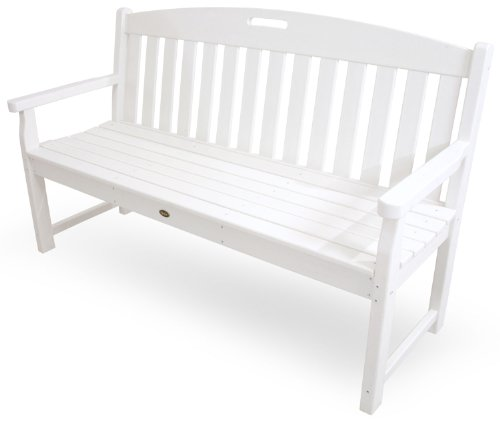 Trex Outdoor Furniture TXB60CW 60-Inch Yacht Club Bench, Classic White
