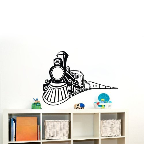 """Colorfulhall 23.6"""" X 35.4"""" Vehicle Wall Decals Sticker The Train Coming Pvc Vinyl Art Wall Stickers Decals Kids Boys Bedroom Living Room Decor Mural Art front-858140"""