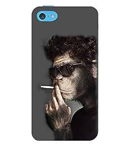 EPICCASE Smoking monkey swag Mobile Back Case Cover For Apple iPhone 5c (Designer Case)