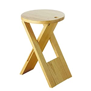 New Sturdy Kitchen Wooden Folding Foldable Stool Set