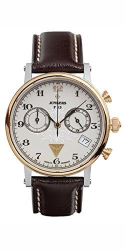 Junkers - 65875 - Montre Femme - Quartz - Chronographe - Bracelet cuir Marron