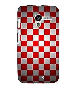 Chess Board Checks 3D Hard Polycarbonate Designer Back Case Cover for Motorola Moto X XT1058 :: Motorola Moto X (1st Gen)