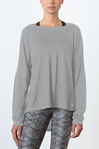 MPG Julianne Hough Women's Chia Drape Top M Htr Concrete