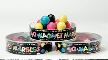 Dowling Magnets DO-736607 20 Split Colored Magnet Marbles - 1