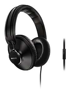Philips Citiscape Uptown SHL5905FB/10 Casque Audio avec Coussinets isolants du bruit/Fonction prise d'appel pour Téléphone portable Noir Denim (Dimensions: 8.5 x 20 x 18 cm )