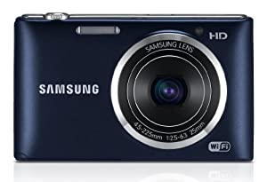 Samsung ST150F Smart Camera 2.0 with Built-In Wi-Fi Connectivity - Cobalt Black/Dark Blue (16.2MP, 5x Zoom, F2.5 Bright Lens) 3.0 inch Screen