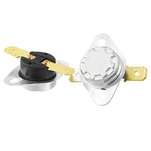 2 Pcs Ksd301 92 Celsius Temperature Switch Bimetal Disc Thermostat Nc