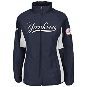 New York Yankees Navy Ladies Authentic Double Climate On-Field Jacket by Majestic by Majestic