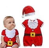 さぁ!クリスマス!可愛い! 赤ちゃん サンタ ロンパース ベビーウェア 子供服 ご購入様特典付き! (100cm)