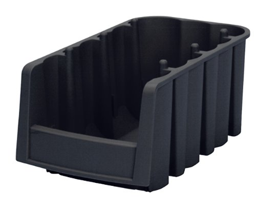 Images for Akro-Mils 30796 Economy Stacking Nesting Plastic Storage Bin, 8-7/8-Inch Long by 6-5/8-Inch Wide by 5-Inch High, Black, Case of 10