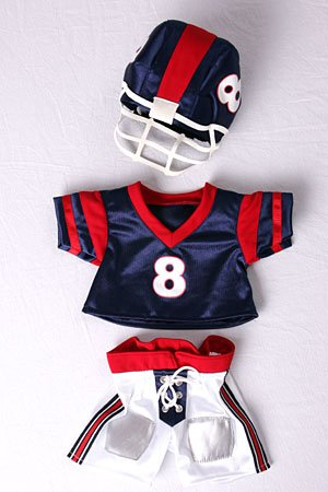 "Football Uniform Outfit Teddy Bear Clothes Fit 14"" - 18"" Build-a-bear, Vermont Teddy Bears, and Make Your Own Stuffed Animals - 1"