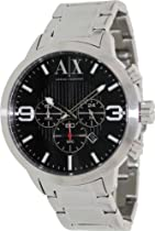Armani Exchange Chronograph Black Dial Stainless Steel Mens Watch AX1272