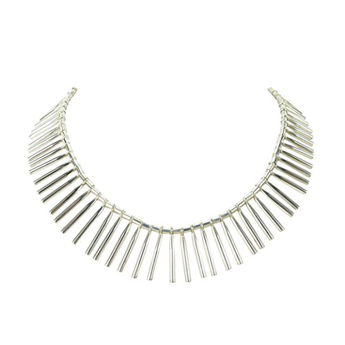 Silver Palitos (Sticks) Necklace by Manuel Porcayo in Sterling Silver