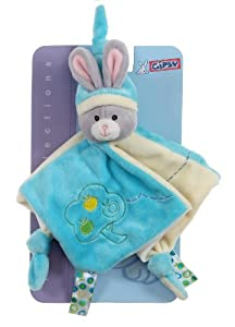 Gipsy Carré Doudou Pomme - Lapin - Turquoise - 26 cm